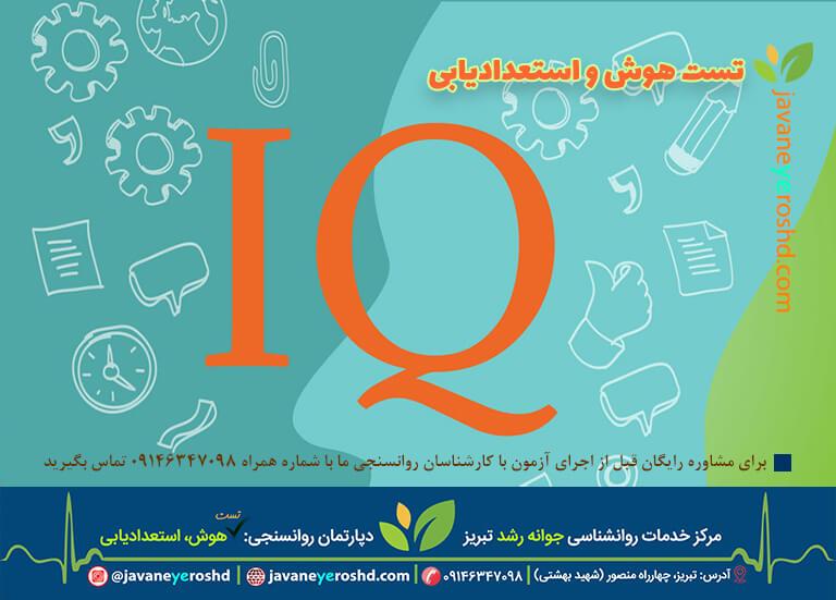 تست هوش و استعدادیابی کودکان - مرکز مشاوره جوانه رشد تبریز